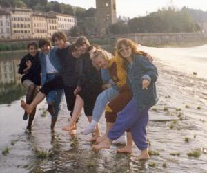 V rieke Arno vo Florencii v nedeľu 28. apríla 1991