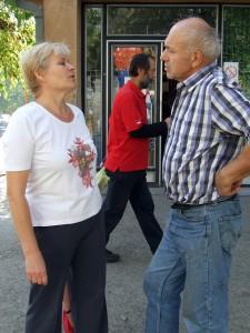 Anna Bolmancová v rozhovore so svojím kamarátom Jánom Huckym