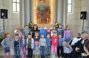 Na slávnostných bohoslužbách vystúpili aj deti z Detskej besiedky