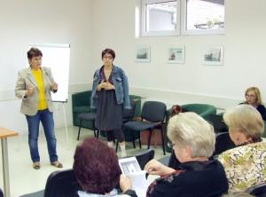 Podnikateľstvo a jeho možnosti pre ženy: organizátorka Viera Miškovicová (zľava) a prednášateľka Marija Srdićová