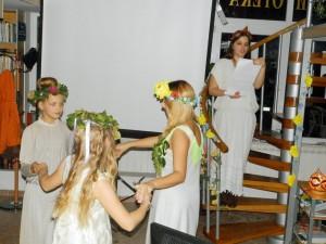Z performancie Mytológia starých Slovanov