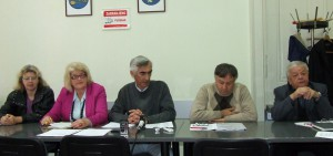 Volebná komisia: (sprava) Samuel Vrbovský, Michal Medveď, Svetoslav Majera, Katarína Rašetová a Vlasta Bohušová