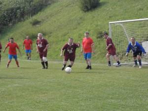 Z júlového zápasu TJ Družstevník Blatnica – Panónia 3 : 0 v Mošovciach