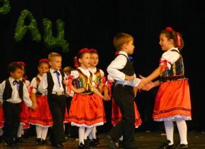 Roztancovaní škôlkari slovenskej skupiny