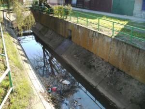 Miesto, kde sa do Šidiny vlievajú odpadové vody