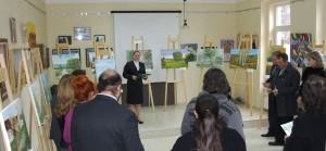 Predajnú výstavu obrazov otvorila V. Marčoková-Cerovská