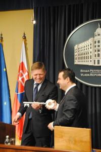 Robert Fico a Ivica Dačić