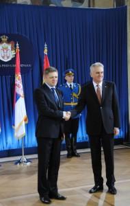 Tomislav Nikolić a Robert Fico
