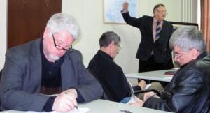 Jedno z prvých kôl Kurzu jazykovej kultúry v roku 2010, ktorý viedol prof. PhDr. Juraj Glovňa (foto: archív NRSNM)