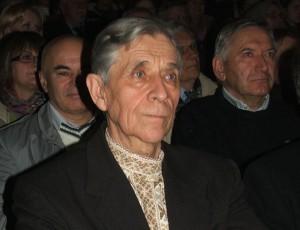 Predseda MOMS Kysáč Ratsislav Surový počas galakoncertu venovaného 240. výročiu príchodu Slovákov do tejto osady