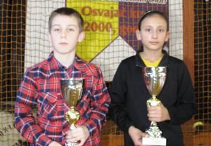 Športové nádeje Obce Kovačica: karatista Miloš Stefanović a stolná tenistka Danijela Bosicová