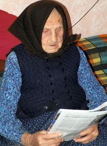 Katarína Slamajová sa narodila  27. marca 1915 a patrí medzi najstarších obyvateľov Starej Pazovy (foto: Anna Lešťanová)