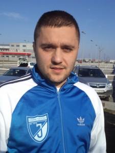 Presný so susedmi: Aleksandar Erceg (Jednota Stará Pazova) (Foto: M. Bzovský)