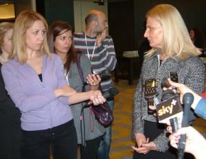 Hlavná negociátorka Tanja Miščevićová pri jednom z nedávnych stretnutí s novinármi