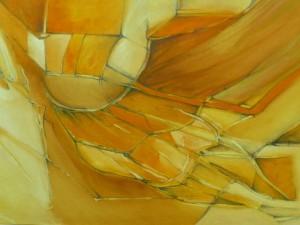 Teplé farby vystihujú pozitívne zmýšľanie maliarky