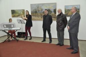 Z vernisáže retrospektívnej výstavy obrazov Ivana Križana v Galérii Zuzky Medveďovej v máji 2014