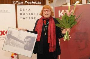 Mila Haugová – laureátka Ceny Dominika Tatarku (snímka: Peter Procházka)