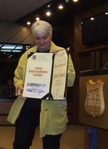 Draginja Ramadanski s cenou za preklad roka