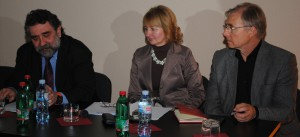 Z konferencie v Belehrade: Zoran Sekulić, Martica Tamaš (Ruske slovo) a Samuel Žiak
