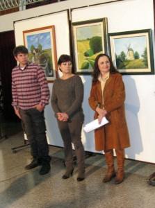 Z otvorenia výstavy: Siniša Čolaković, Zorica Opavská a Anđelka Mali