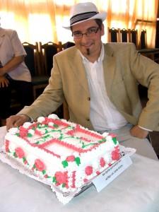 MgA. Janko Siroma sKantorovou tortou v Petrovci