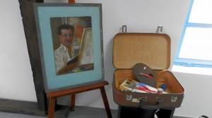 Vo viacúčelovom priestore sa nachádza portrét Martina Jonáša, ktorý namaľoval neznámy autor