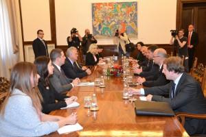 Slovenská delegácia na stretnutí s prezidentom Tomislavom Nikolićom: podpora našej európskej cesty