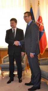 Premiér Aleksandar Vučić a vicepremiér Miroslav Lajčák: eurointegrácia znamená aj mnohé reformy