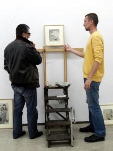 Umiestniť správne objekty si vyžaduje technickú presnosť: (zľava) Pavel Čáni aZdenko Lončar
