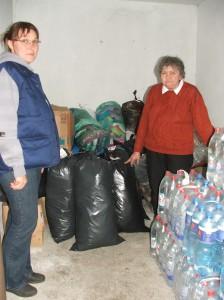 Časť zozbieranej pomoci (foto: E. Šranková)