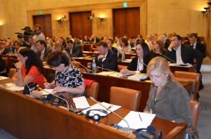 Za opravný rozpočet hlasovalo 71 poslancov a v hlasovaní nezúčastnilo 23 poslancov.