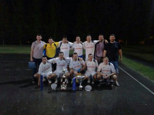 Víťazné mužstvo Lampone z Nového Sadu