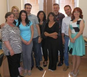 Hostia a hostitelia v miestnostiach RTV Stará Pazova (Snímka: A. Lešťanová)