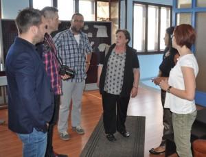 Zvítanie sa novinárov v petrovskom rozhlase (Snímka: J. Čiep)