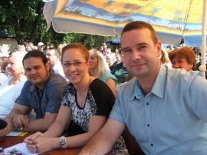 Odborná porota 21. DFF Zlatá brána: (zľava) Ervín Malina, hudobník, Mgr. Anna Medveďová Gašková, etnologička, a Mgr. Jaroslav Gabríny, etnológ