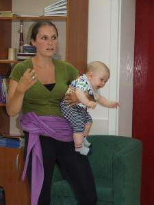 Mariana Valtnerová hovorí o svojej skúsenosti pri kojení syna Danila (foto: V. Dorčová-Valtnerová)