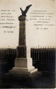 Pohľadnica zKragujevca – pomník padlých Slovákov