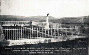 Fotka po úprave pomníka vKragujevci (skenovaná zNárodného kalendára na rok 1925)