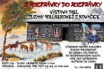Insitná maliarka Zuzana Holúbeková vystavuje v Čičmanoch