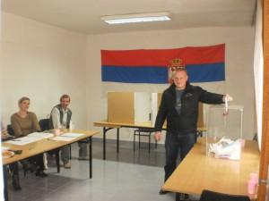 Počas volieb do NRSNM v Hajdušici (foto: V. Hudec)