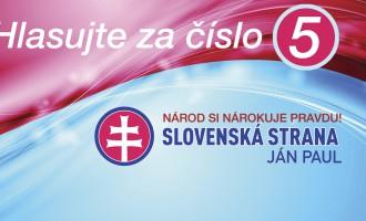 SLOVENSKÁ STRANA – Ján Paul, volebná listina číslo 5