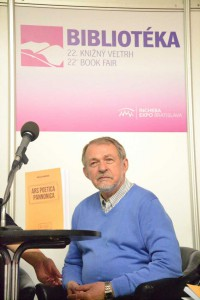 Prof. Dr. Michal Harpáň na Bibliotéke 2014 (foto: A. Meleg)