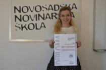 Novosadská novinárska škola udelila výročnú cenu novinárke Jelene Vukmanovićovej