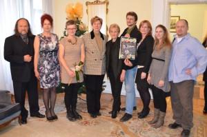 Odmenení autori pre deti s členmi komisie a predsedníčky NRSNM