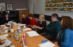 Časť členov nového zloženia výboru v čele s predsedníčkou Annou Jaškovou (vľavo)
