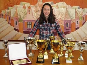 Najlepšia športovkyňa Obce Kovačica: Izabela Lupulescuová a jej klubové trofeje