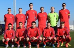 Omladené mužstvo Doliny: Čigoja, M. Šušnjar, Vukotić, Vasić, Trivunović, Nedučić (stoja zľava); vdrepe zľava: Šarenac, A. Šušnjar, Brkić, Mrđa, Raković