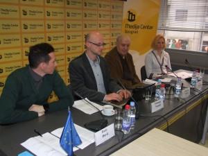 Z februárovej prezentácie v belehradskom mediálnom stredisku (foto: O. Filip)