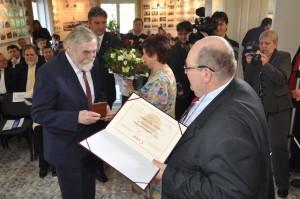 Odovzdávanie Ceny Ondreja Štefanka 2015 profesorovi Samuelovi Boldockému
