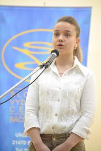 V programe vystúpila aj talentovaná recitátorka Karolína Bažíková